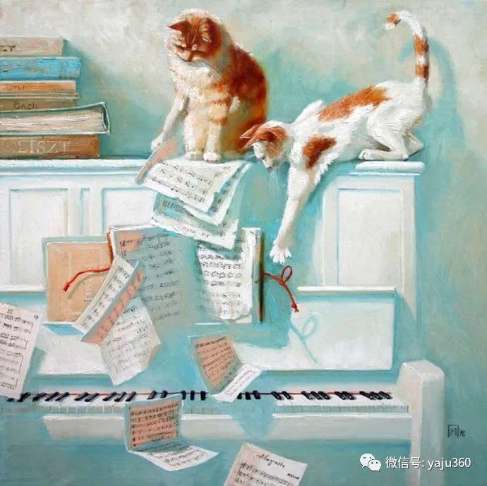 画家笔下的猫咪和现实中一样调皮插图39