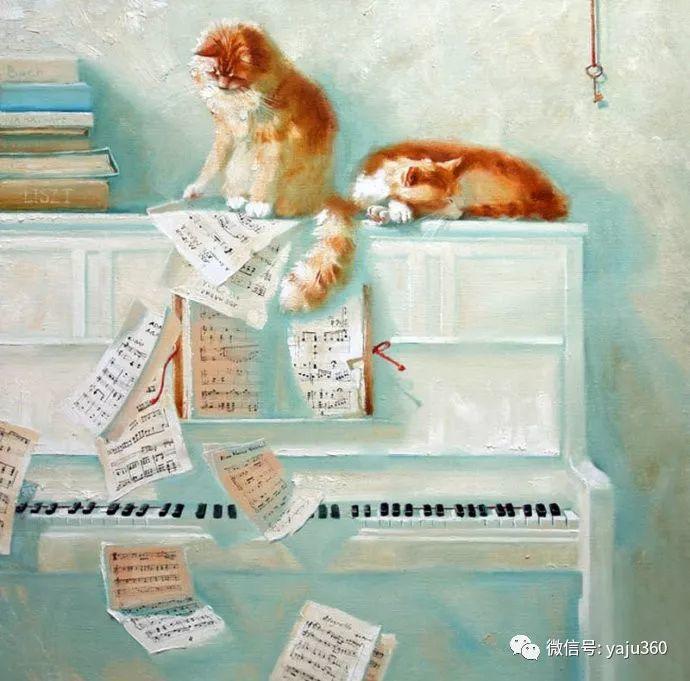 画家笔下的猫咪和现实中一样调皮插图41