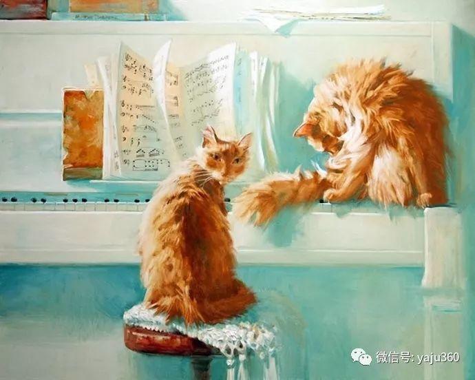 画家笔下的猫咪和现实中一样调皮插图43