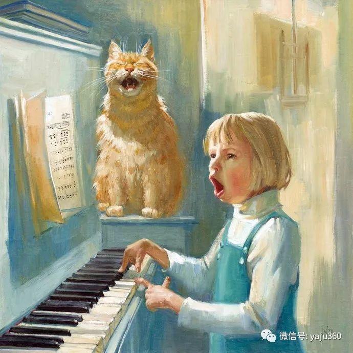 画家笔下的猫咪和现实中一样调皮插图45