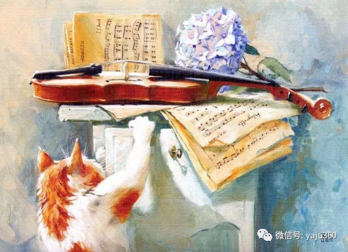 画家笔下的猫咪和现实中一样调皮插图47