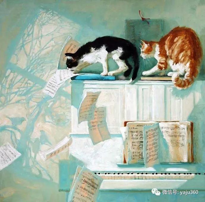 画家笔下的猫咪和现实中一样调皮插图49