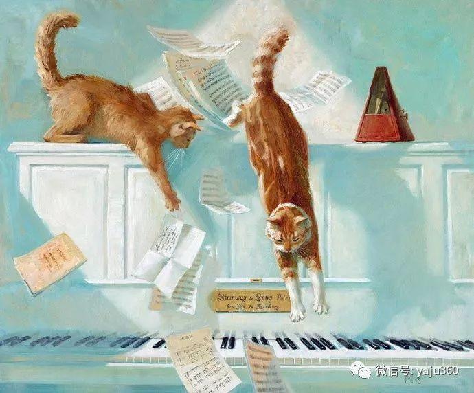 画家笔下的猫咪和现实中一样调皮插图51