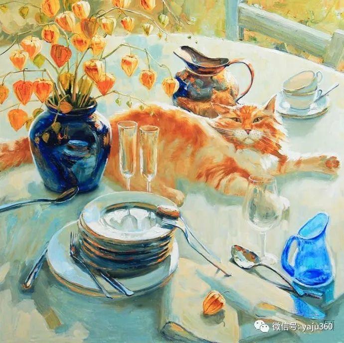 画家笔下的猫咪和现实中一样调皮插图75