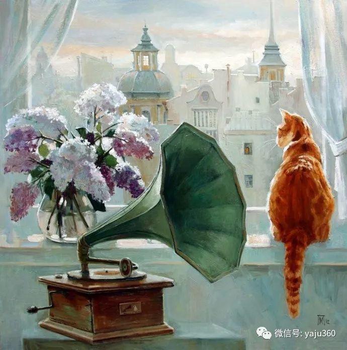 画家笔下的猫咪和现实中一样调皮插图79