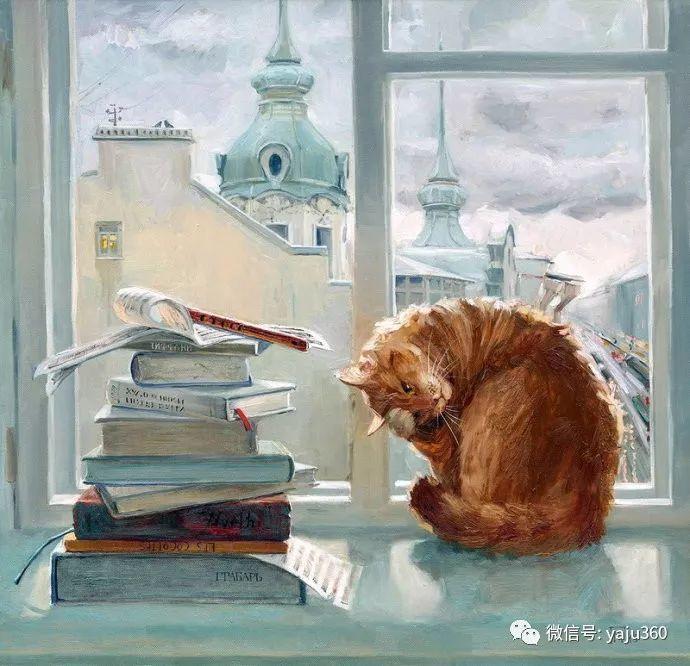 画家笔下的猫咪和现实中一样调皮插图81