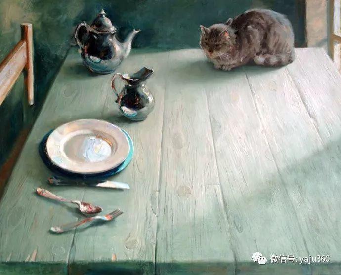 画家笔下的猫咪和现实中一样调皮插图83