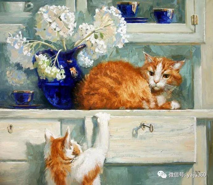 画家笔下的猫咪和现实中一样调皮插图89