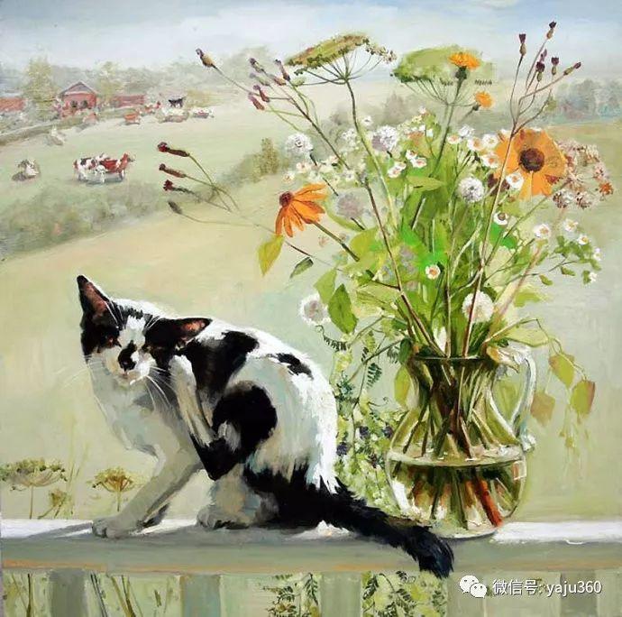 画家笔下的猫咪和现实中一样调皮插图91
