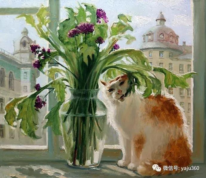 画家笔下的猫咪和现实中一样调皮插图97