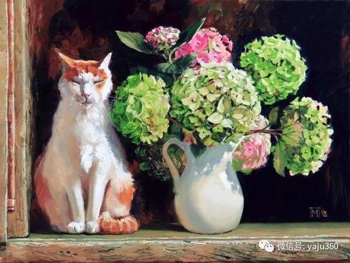 画家笔下的猫咪和现实中一样调皮插图101
