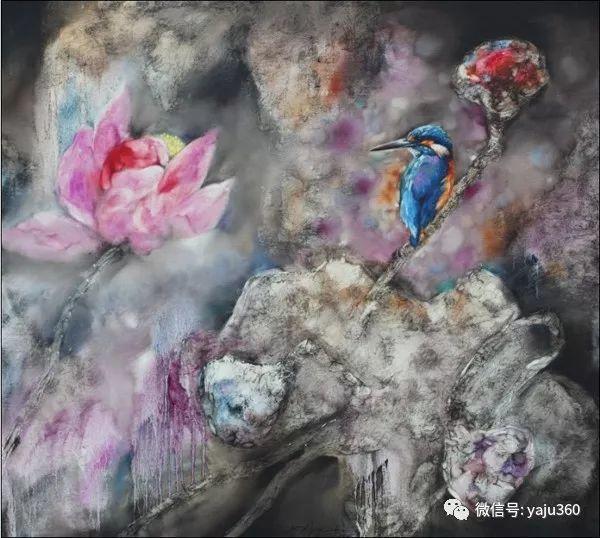 黄月花鸟油画作品插图5