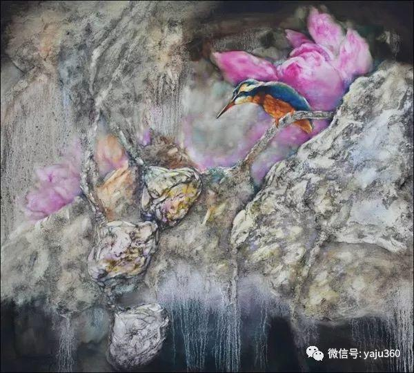黄月花鸟油画作品插图6