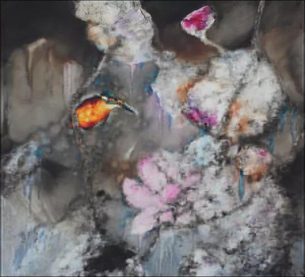 黄月花鸟油画作品插图10