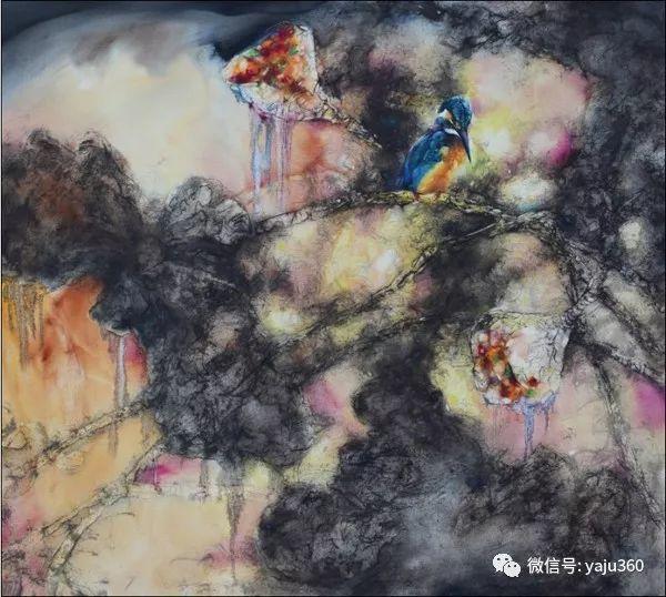 黄月花鸟油画作品插图11