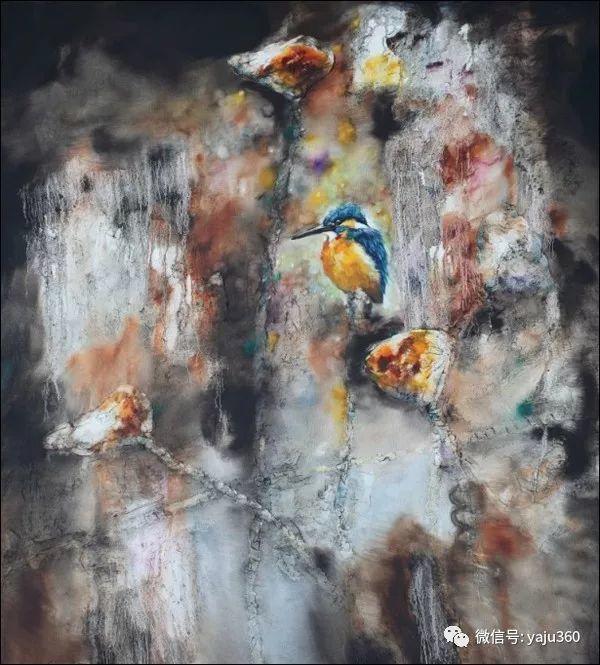 黄月花鸟油画作品插图12