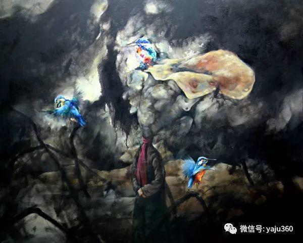 黄月花鸟油画作品插图14