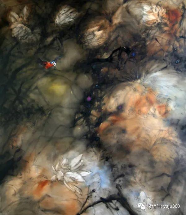 黄月花鸟油画作品插图16