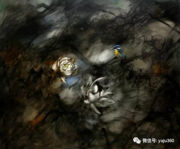 黄月花鸟油画作品插图17