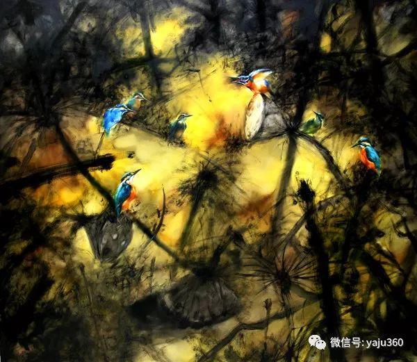 黄月花鸟油画作品插图18