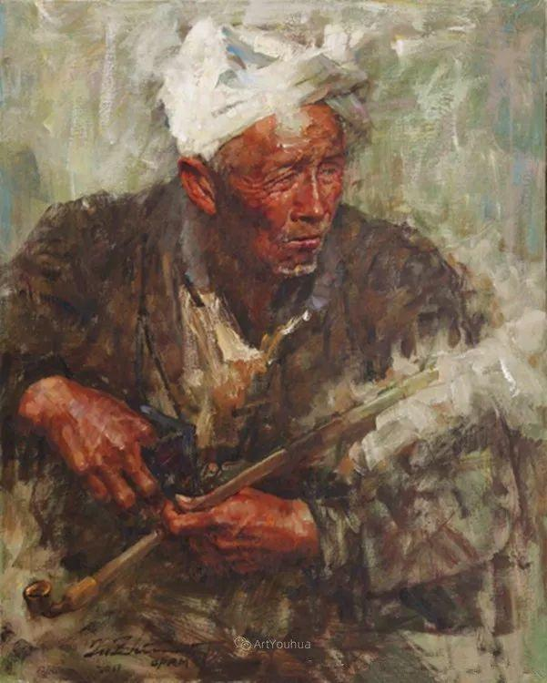 中外男性肖像,涂志伟油画欣赏插图11