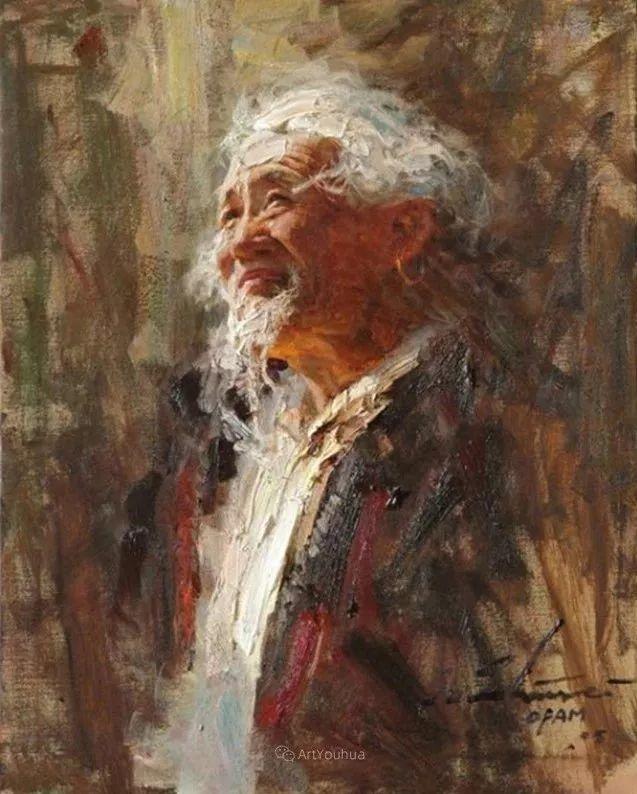 中外男性肖像,涂志伟油画欣赏插图31