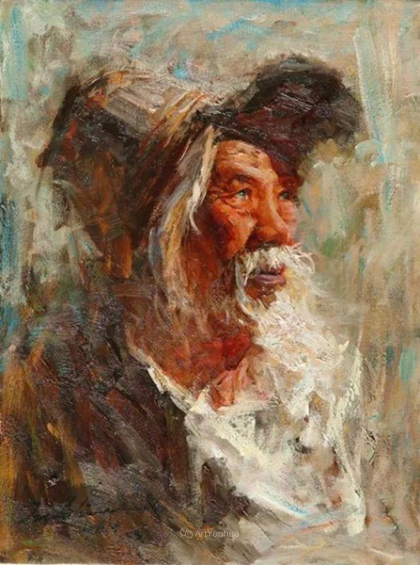 中外男性肖像,涂志伟油画欣赏插图33