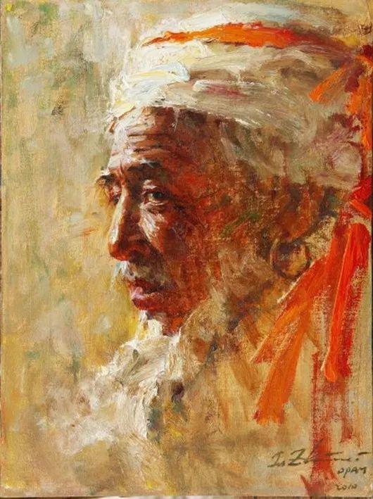 中外男性肖像,涂志伟油画欣赏插图37
