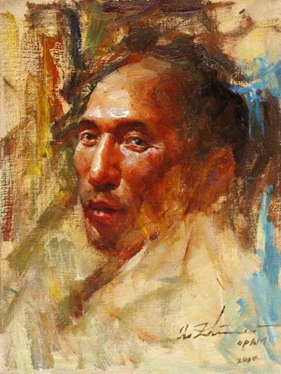 中外男性肖像,涂志伟油画欣赏插图49