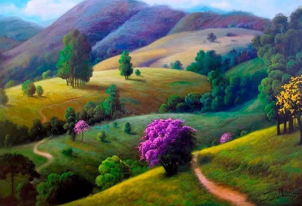 多彩风景,巴西画家Jorge Maciel插图
