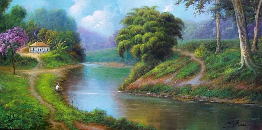 多彩风景,巴西画家Jorge Maciel插图2