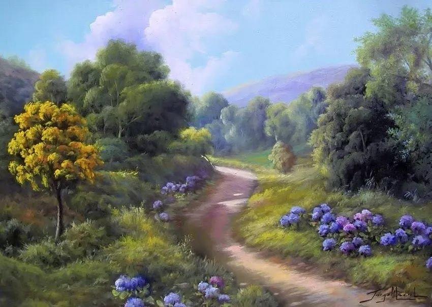 多彩风景,巴西画家Jorge Maciel插图3