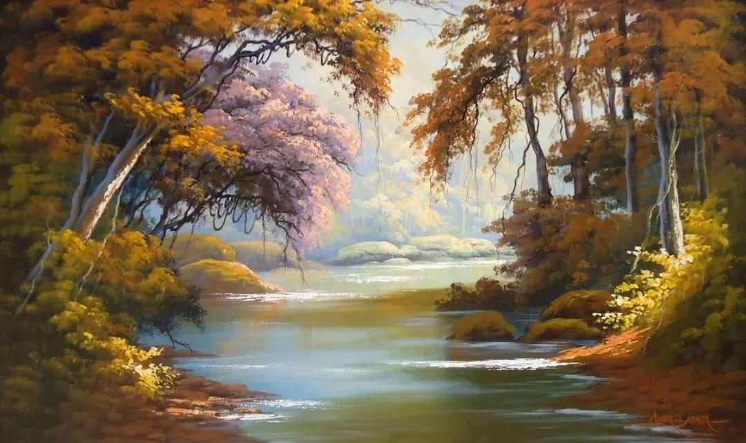 多彩风景,巴西画家Jorge Maciel插图6