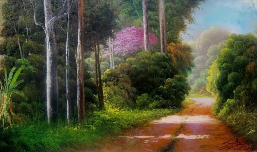 多彩风景,巴西画家Jorge Maciel插图8