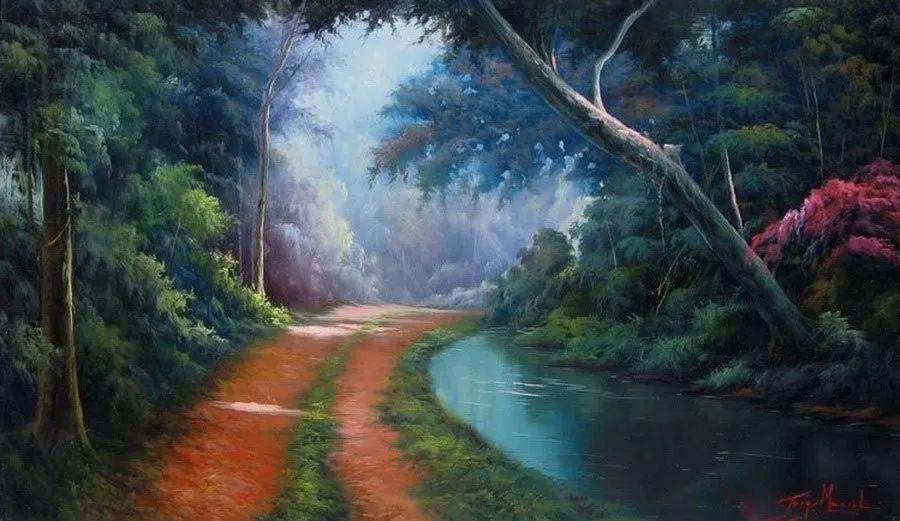 多彩风景,巴西画家Jorge Maciel插图9