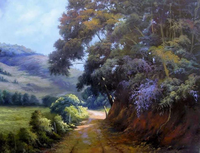 多彩风景,巴西画家Jorge Maciel插图10