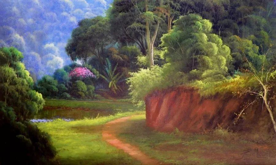 多彩风景,巴西画家Jorge Maciel插图11