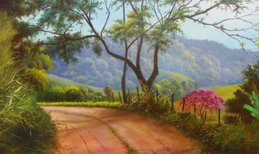 多彩风景,巴西画家Jorge Maciel插图12