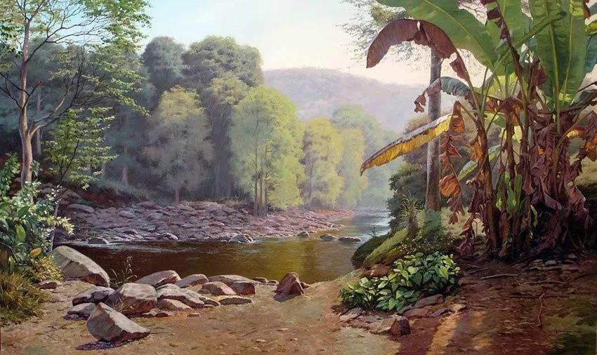 多彩风景,巴西画家Jorge Maciel插图13