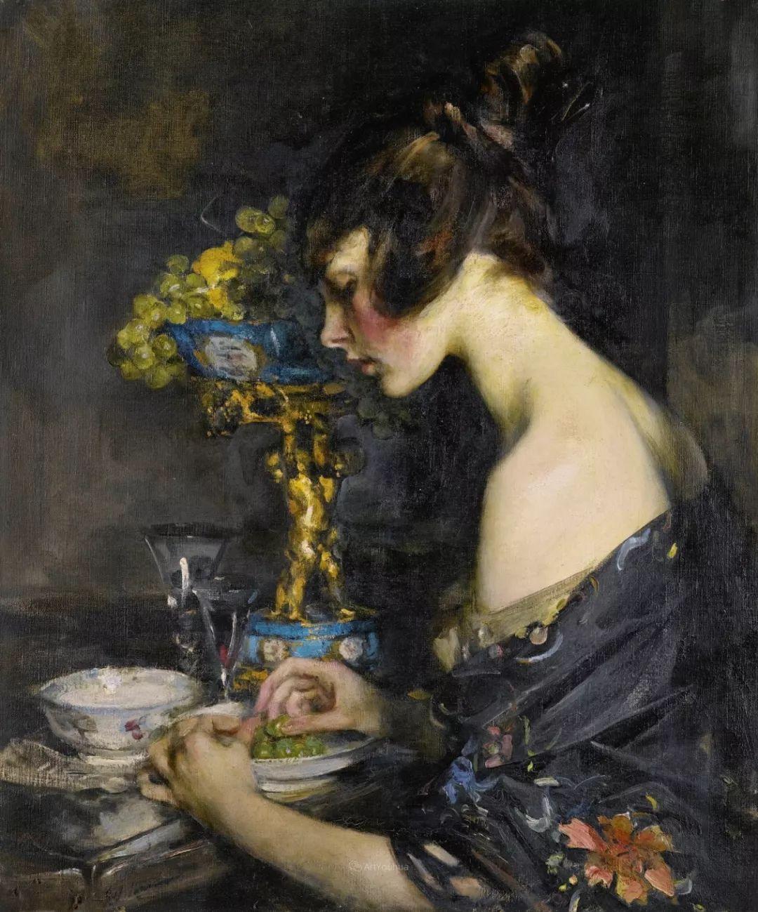 画家笔下苗条的女子,美丽优雅!英裔美国画家James Jebusa Shannon插图