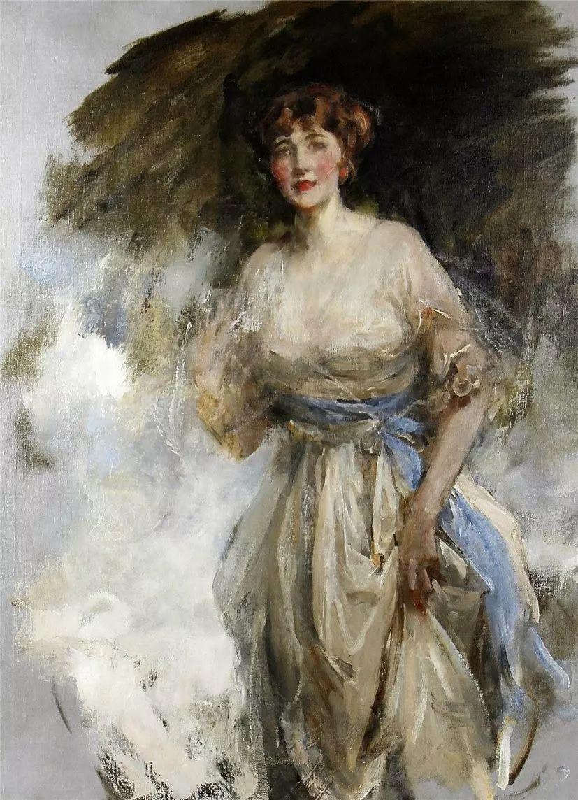 画家笔下苗条的女子,美丽优雅!英裔美国画家James Jebusa Shannon插图5
