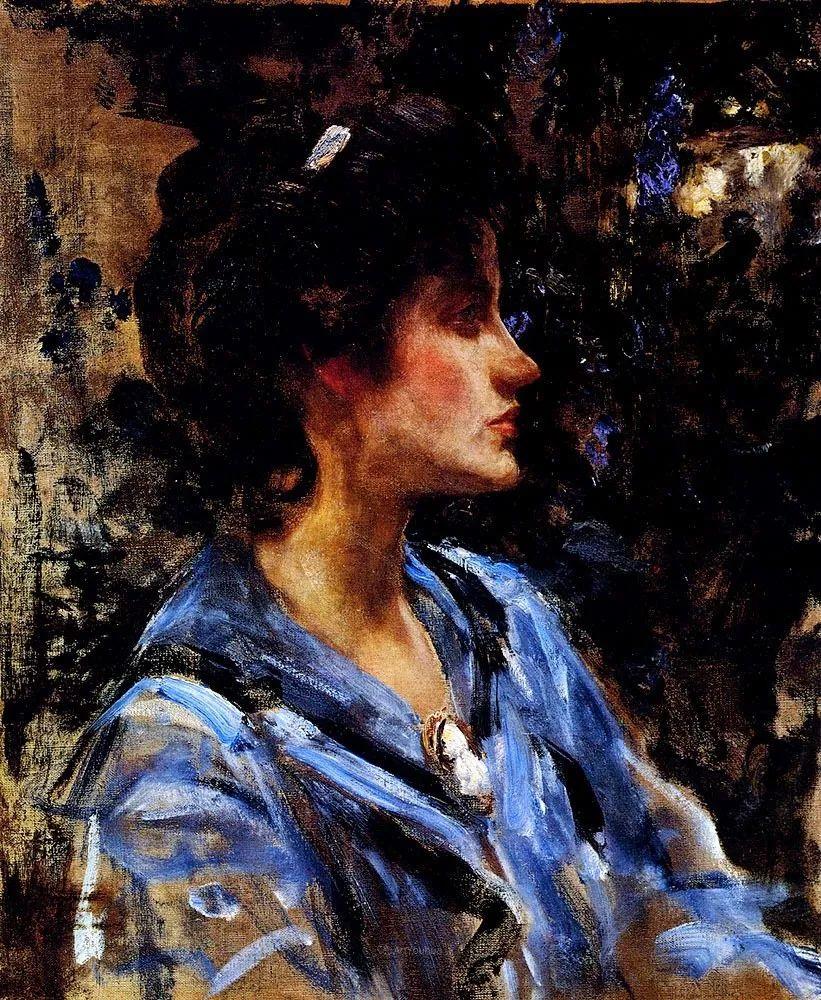 画家笔下苗条的女子,美丽优雅!英裔美国画家James Jebusa Shannon插图6