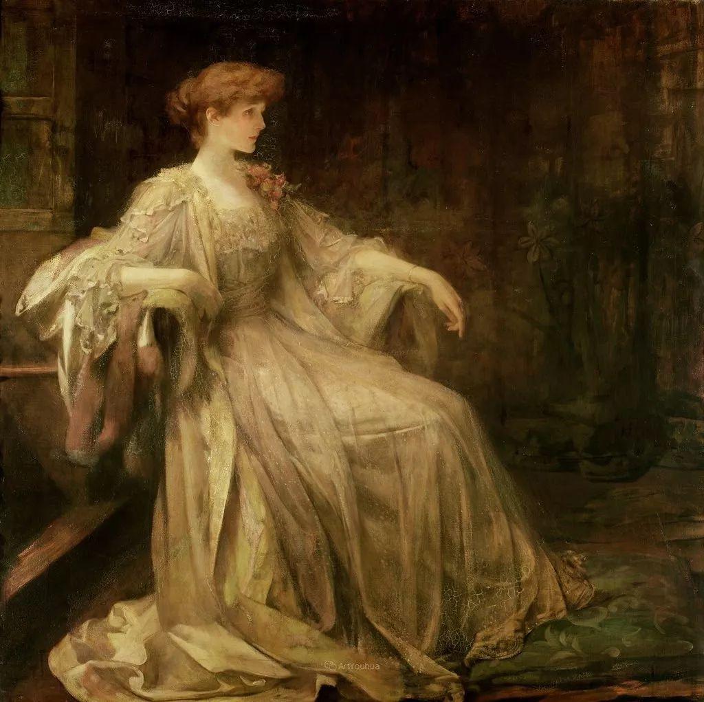 画家笔下苗条的女子,美丽优雅!英裔美国画家James Jebusa Shannon插图7