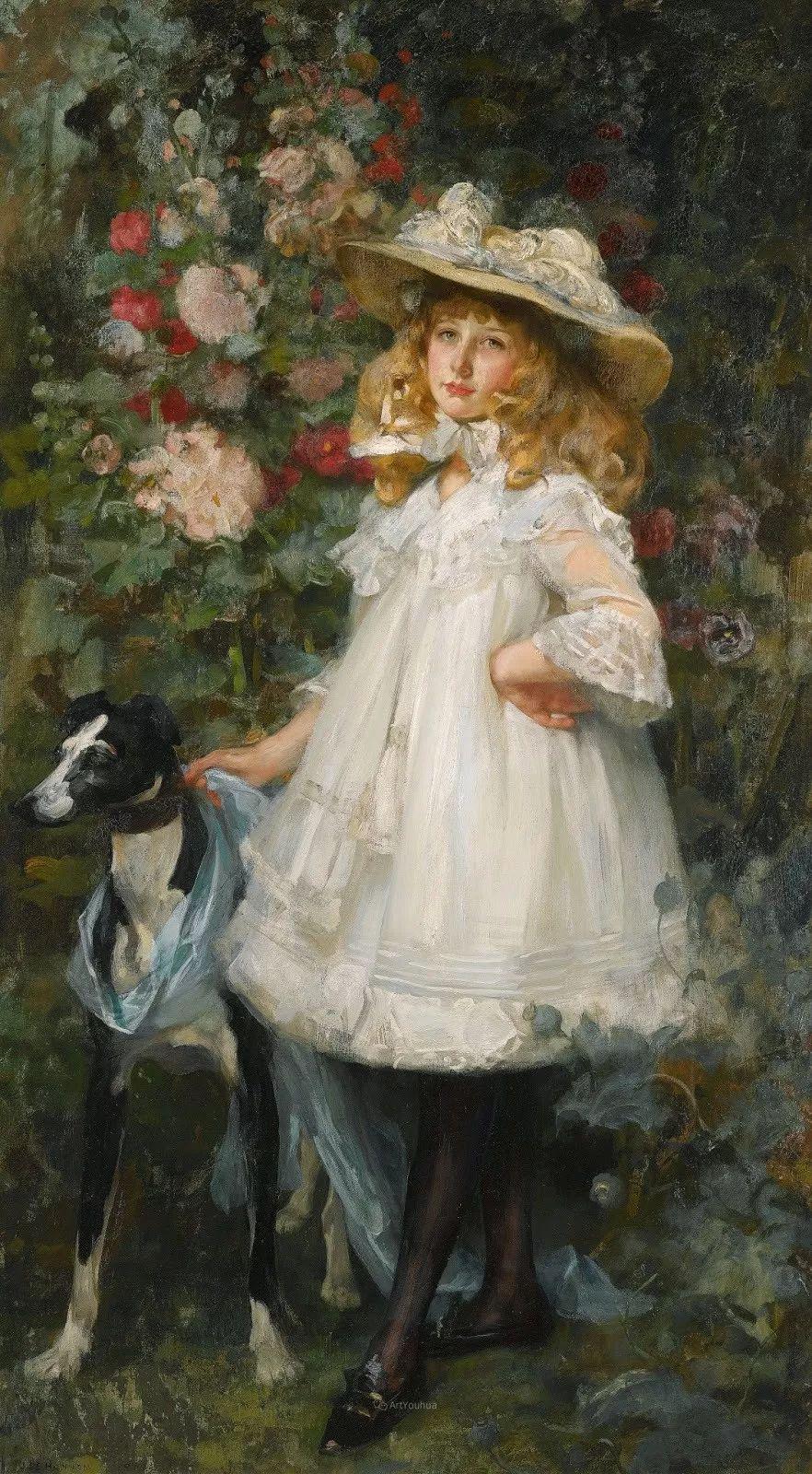 画家笔下苗条的女子,美丽优雅!英裔美国画家James Jebusa Shannon插图13