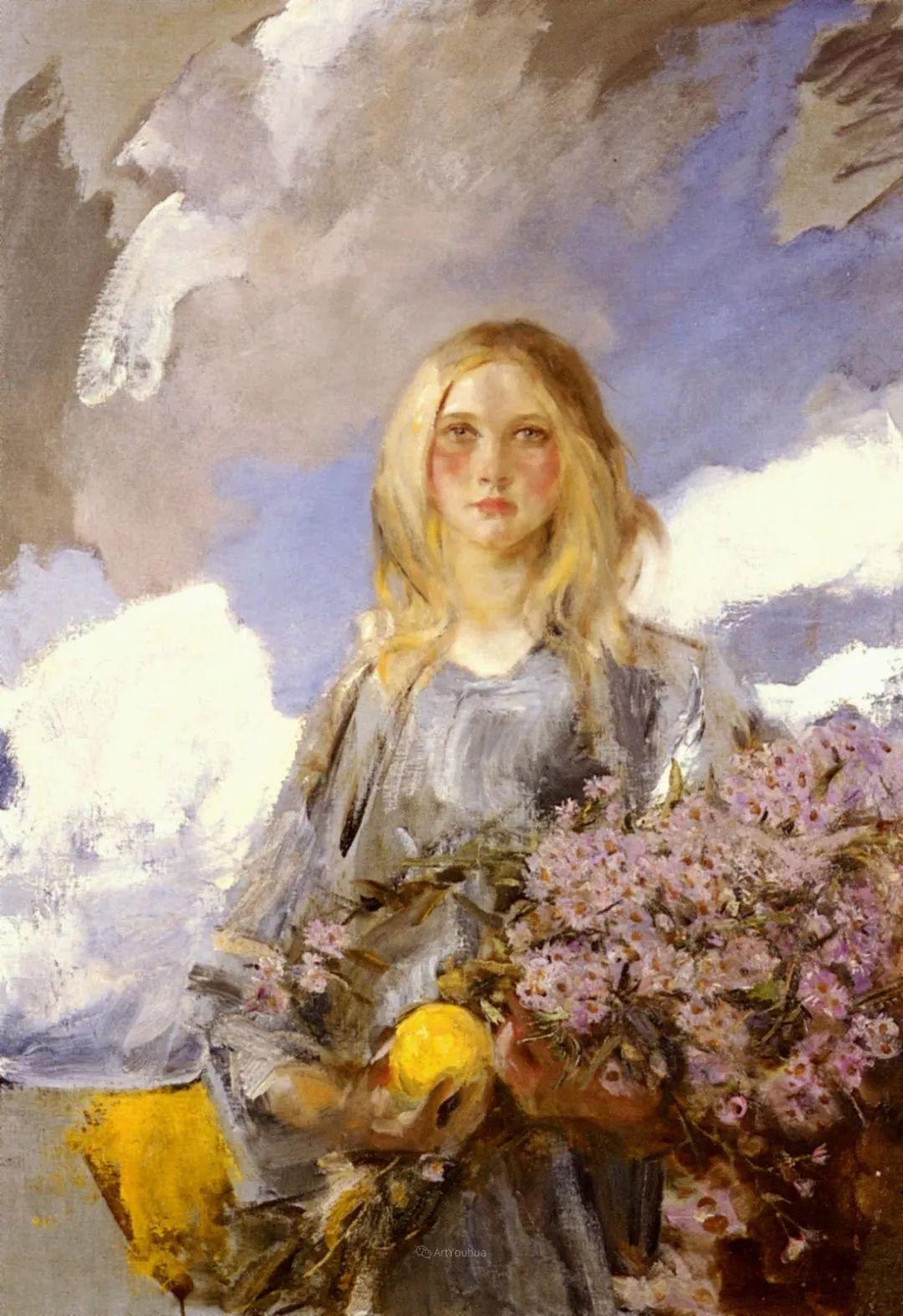 画家笔下苗条的女子,美丽优雅!英裔美国画家James Jebusa Shannon插图14
