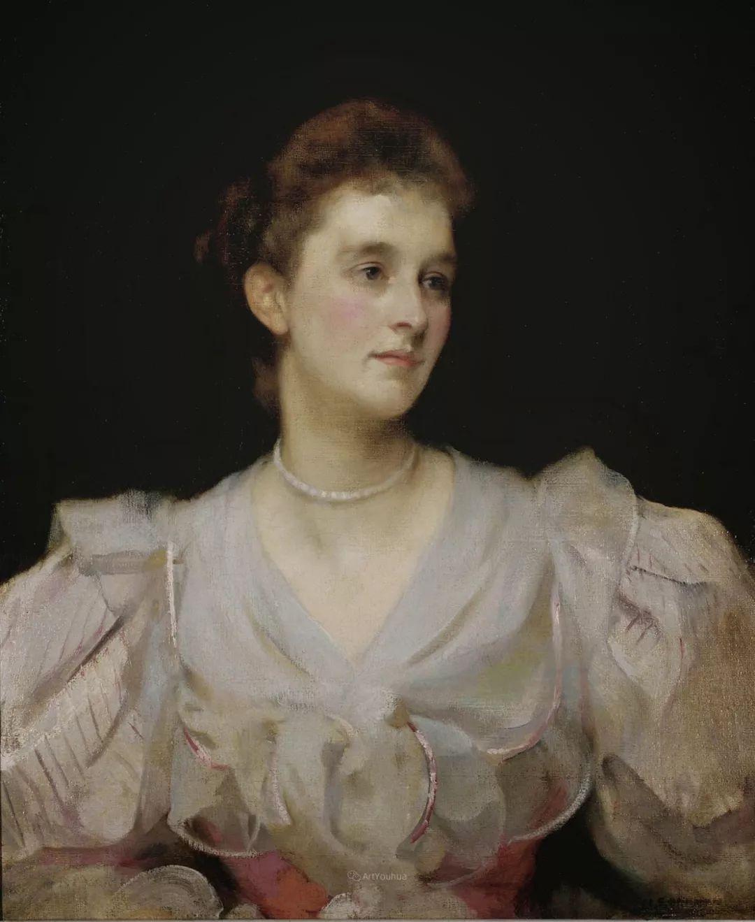 画家笔下苗条的女子,美丽优雅!英裔美国画家James Jebusa Shannon插图16
