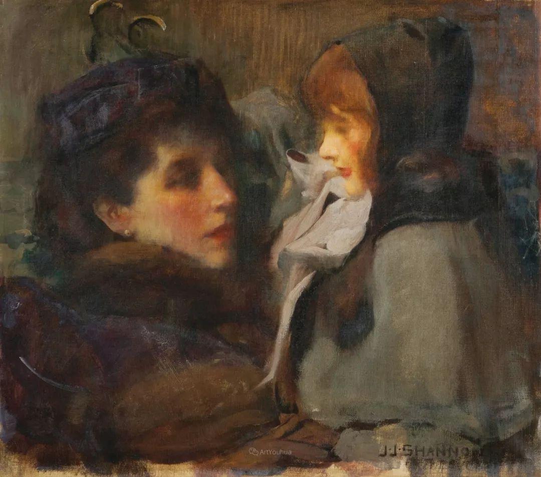 画家笔下苗条的女子,美丽优雅!英裔美国画家James Jebusa Shannon插图17