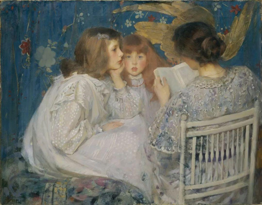 画家笔下苗条的女子,美丽优雅!英裔美国画家James Jebusa Shannon插图18