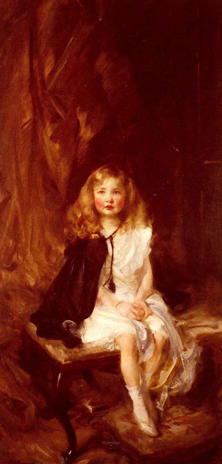 画家笔下苗条的女子,美丽优雅!英裔美国画家James Jebusa Shannon插图20