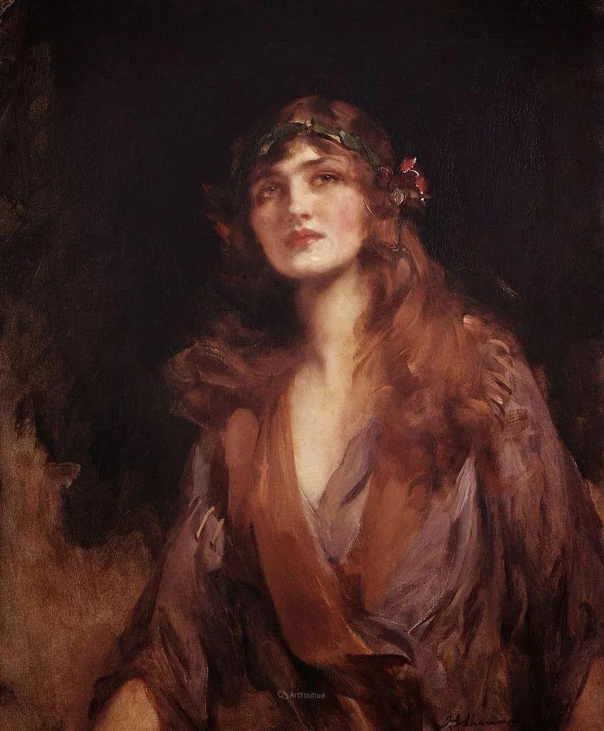 画家笔下苗条的女子,美丽优雅!英裔美国画家James Jebusa Shannon插图24